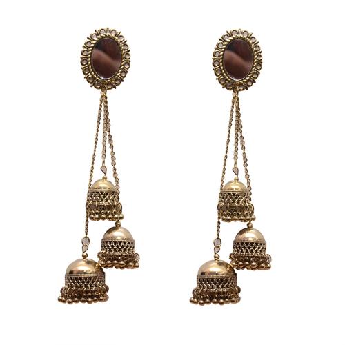 Gold Metal Dangle & Drop Fashion Earring Women