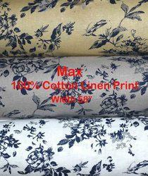 Cotton Linen Printed Shirting Fabric