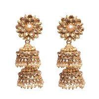 Yellow Metal Jhumkas