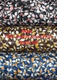 Cotton Linen Printed Shirting Fabric Max