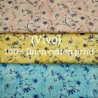 Linen Cotton Print Shirting Fabric
