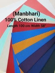 Cotton Linen Shirting Fabric Manbhari
