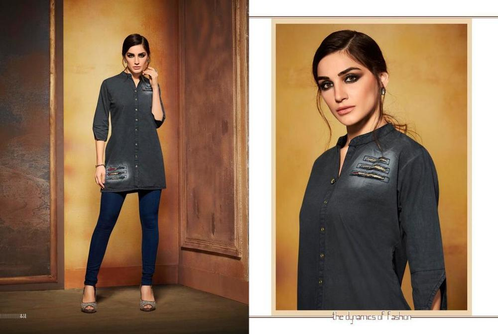 Branded Denim Kurtis