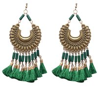 Green Metal Dangle & Drop Fashion Earring Women