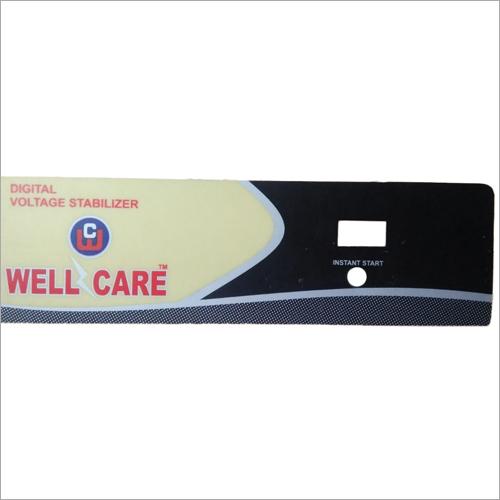 Voltage Stabilizer Panel Sticker