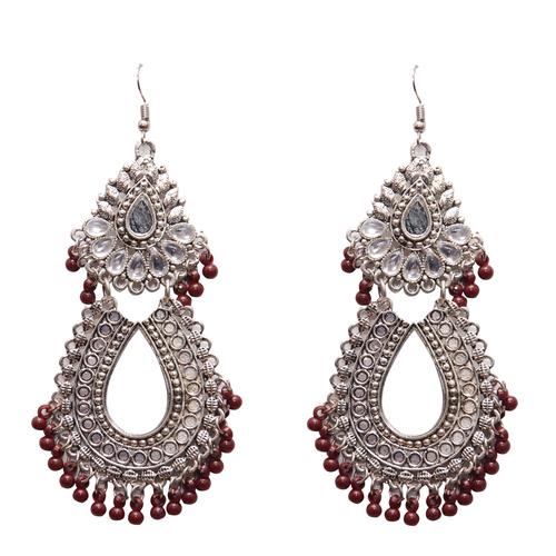 Antique Red Metal Dangle & Drop Fashion Earring Women