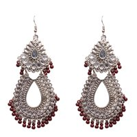 Antique Red Metal Dangle & Drop Fashion Earring Women