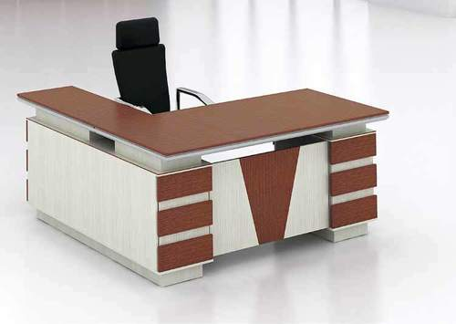 Office Table Desk L Wood