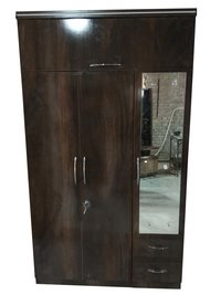 Wooden Wardrobe With Mirror