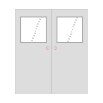Polyurethane Double Door Panel With Window