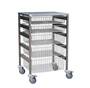 Stainless Steel Wire Basket Trolley 600 mm W