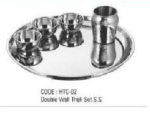 Double Wall Thali Set S.S