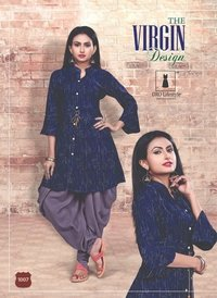 Designer top with dhoti