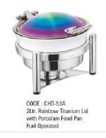 2Ltr Rainbow Titanium With Food Pan Fuel Operated