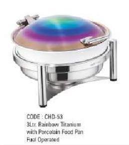 3Ltr Rainbow Titanium With Food Pan Fuel Operated