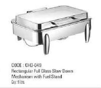 Rectangular Full Glass Slow Down Mechanism With Fuel Stand