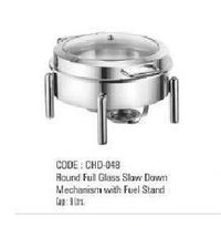 Round Full Glass Slow Down Mechanism With Fuel Stand