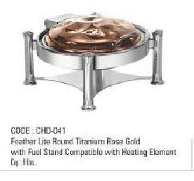 Round Titanium Rose Gold With Fuel Stand