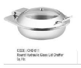 Round Hydraulic Glass Lid Chaffer