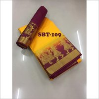New stylish woman kanjivaram saree