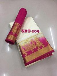 New stylish woman kanjivaram saree