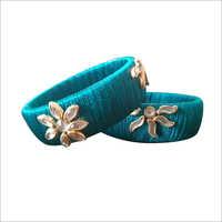 Blue Silk Thread Fancy Bangle