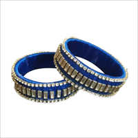 Blue Stone Bangle Set