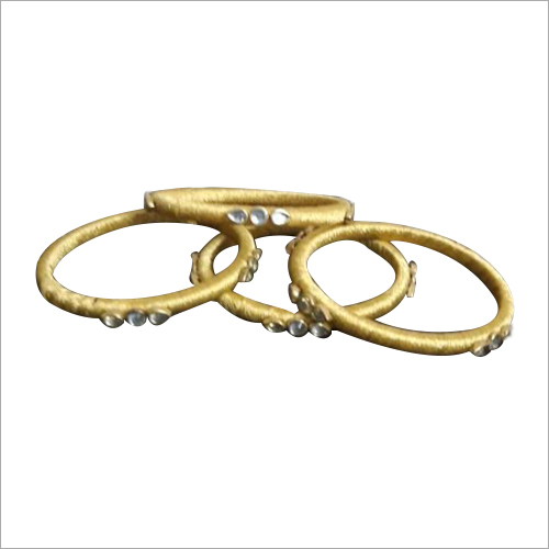 Round Stone Studded Bangle Set
