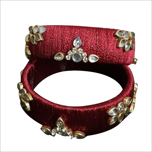 Fancy Silk Thread Bangle Set