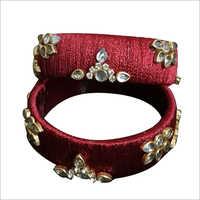 Fancy Silk Thread Bangle Set