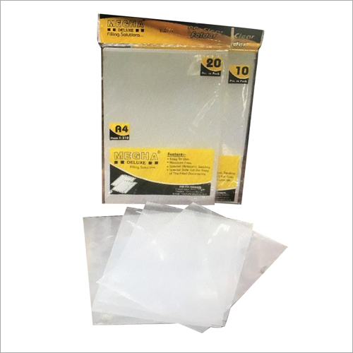 PP Clear Bag File Folder