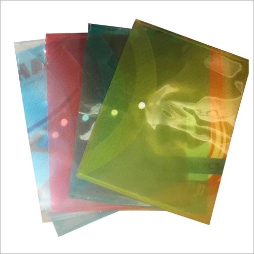 Coloured Plastic File Folder