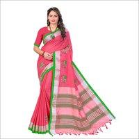 New woman cotton saree
