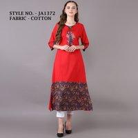 designer straight cotton kurti