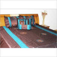 Designer Bedding Set with Flower Embroidery