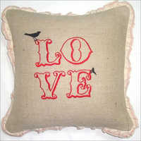Jute Printed Cushion Cover