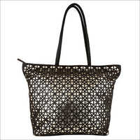 Black, Golden Bharat Exim Designer Leather Bag, Pure Leather Yes