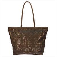 Leather Brown Ladies Bag