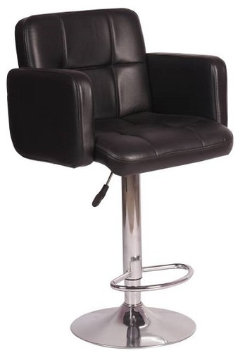 Chairs Leatherette Bar Chair Finish Color Black