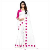 Embroidery Work Chanderi Cotton Saree