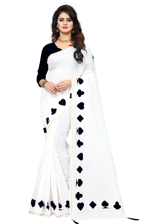 Embroidery Work Chanderi Cotton Saree