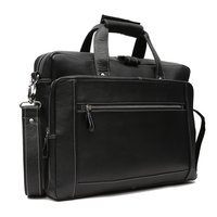 Leather Laptop Bags Black