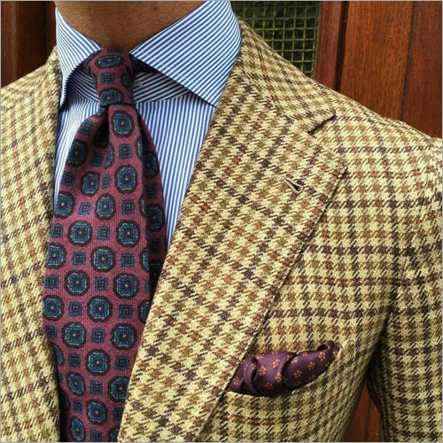 Mens Check Blazzer Suit
