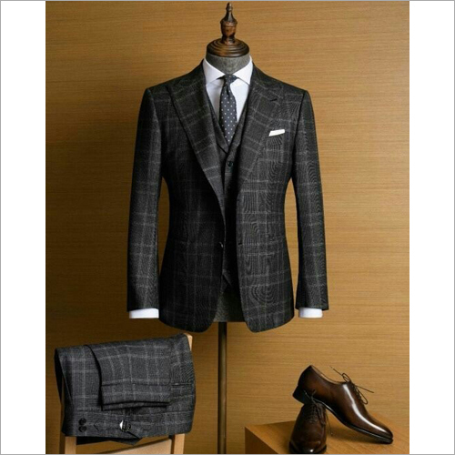 Mens Black Formal Suit
