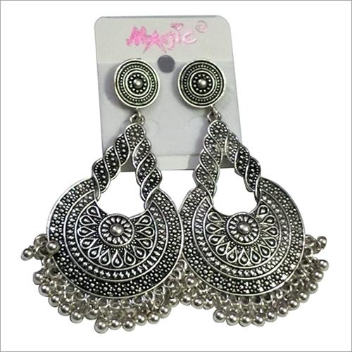Partywear Oxidized Metal Earring