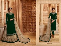 Designer EMbroidered Suit with Lehenga