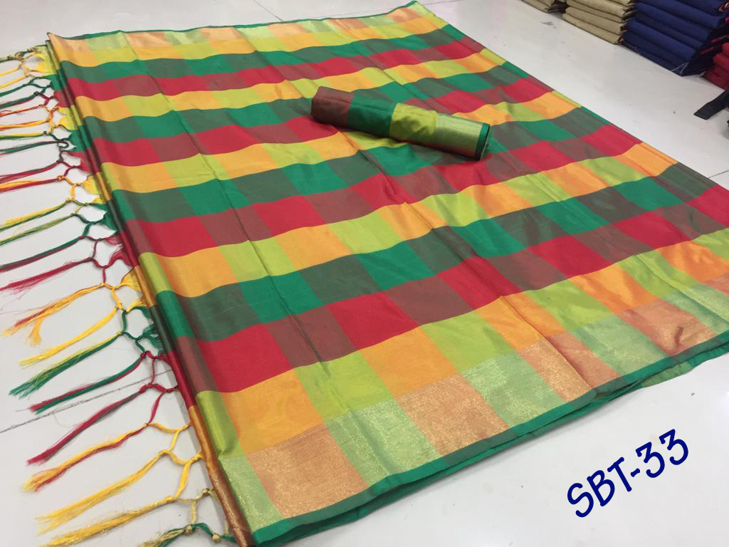 Checks Printed Saree