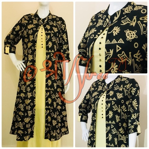 Manipuri Coat With Rayon Ankle Length Inner Kurti