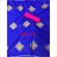 Heavy Embroidery Work Cotton Saree