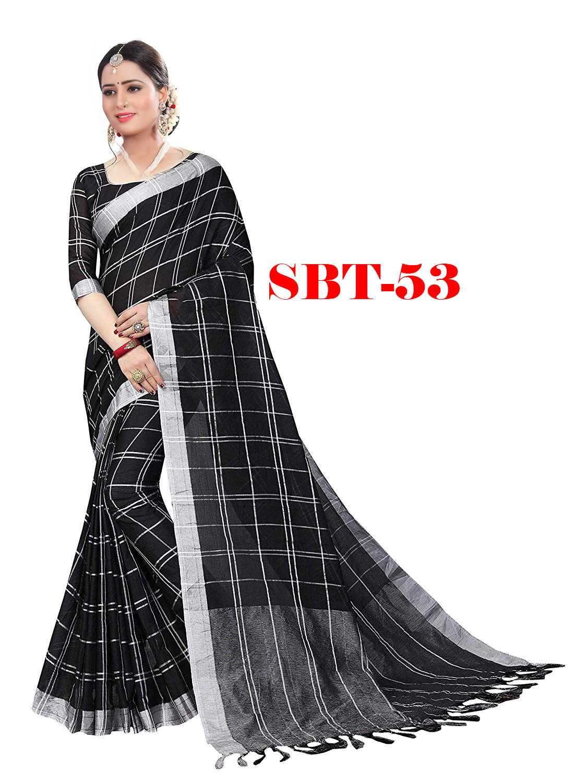 Women Linen Jhalar Saree
